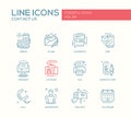 Contact Us - Line Design Icons Set Stock Photography - 73861902