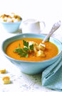 Carrot Creamy Soup. Royalty Free Stock Photo - 73875195