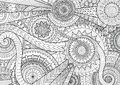 Complex Mandala Movement Design For Adult Coloring Book And Background Royalty Free Stock Image - 73888866