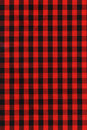Red And Black Checkered Fabric Texture Stock Image - 7395001
