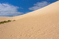High Sand Hill Ridge From Afar At Little Sahara White Sand Dune Royalty Free Stock Photography - 73903747