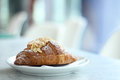 Croissant Resting On A White Plate. Royalty Free Stock Image - 73908806