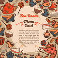 Cute Menu Card For Tea Room Stock Photos - 73915993