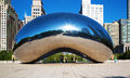 Simple Beauty Of Cloud Gate In Chicago Royalty Free Stock Photo - 73919465