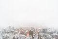 Sapporo TV Tower In Sapporo With Copy Space, Snowy Day Royalty Free Stock Images - 73946419