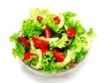 Fresh Vegetable Salad Isolated On A White Royalty Free Stock Photo - 73949915