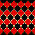 Gold Wire Grid Seamless Pattern On Red And Black Rhomboids Backg Stock Image - 73962491