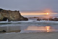 Sunset Over Pescadero State Beach In San Mateo County, California Stock Image - 74016151