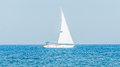 Recreation Yacht, Ship Sailing On Black Sea, Blue Water, Sunny Day And Clear Sky. Royalty Free Stock Image - 74052776