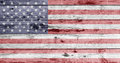 American Flag Painted On Wooden Texture Royalty Free Stock Image - 74060706