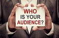 Who Is Your Audience Stock Photo - 74090920