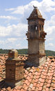 Chimney On The Roof Red Royalty Free Stock Photo - 7411105