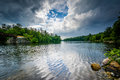 Storm Clouds Over The Piscataquog River,  In Manchester, New Ham Royalty Free Stock Image - 74109946