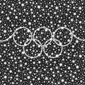 Olympic Style Silver Falling Stars Shining Background Royalty Free Stock Image - 74111016