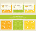 Vector Design Layouts - Natural Honey Collection Stock Image - 74115451