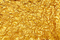 Shiny Yellow Leaf Gold Foil Stock Photo - 74123060