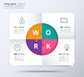 Infographic Label With 4 Color And Icon. Included Sample Text. V Royalty Free Stock Images - 74127129