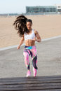 Fitness Woman Doing Toe Taps Hiit Workout Royalty Free Stock Photo - 74130905
