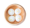 Salapao Chinese Bun On Wooden Bowl Stock Photos - 74149123