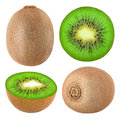 Collection Of Isolated Kiwi Fruits Royalty Free Stock Photo - 74151605