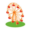 Ferris Wheel Attraction Illustration Stock Photography - 74193372