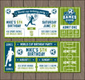 Vector Soccer Party Invites Stock Photos - 74193713