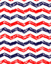 Blue Red And White Grunge Chevron Geometric Seamless Pattern, Vector Royalty Free Stock Image - 74196586