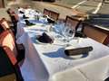 Ready To Dine Al Fresco At A Dining Under The Stars Event Royalty Free Stock Photography - 74209617