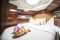 Bedroom In Luxury Boat Royalty Free Stock Image - 74235926
