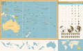 Australia And Oceania Detailed Old Color Map And Navigation Icon Royalty Free Stock Photos - 74236868