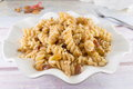 Sweet Pasta With Honey, Nuts And Raisins Stock Photos - 74246163