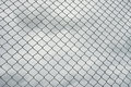 Rusty Steel Wire Mesh Fence , Cloud In Background Royalty Free Stock Image - 74249356