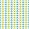 Tile Vector Pattern With Blue And Green Zig Zag On White Background Royalty Free Stock Photography - 74254317