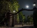 Moon And Gates Royalty Free Stock Photography - 74259107