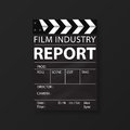 Film Industry Templates For Flyers, Brochure, Annual Report, Folder. Cinema, Movie Business. Vector Royalty Free Stock Photography - 74264647