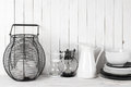 White And Black Rustic Still Life Stock Photos - 74266053