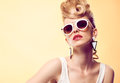 Fashion Hipster Girl, Stylish Hairstyle. Makeup Royalty Free Stock Photos - 74285028