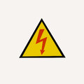 High Voltage Signs On White Background Royalty Free Stock Image - 74290856