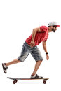 Male Skater Riding A Longboard Royalty Free Stock Images - 74292389