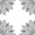 Indian Floral Frame For Coloring Pages Book Royalty Free Stock Image - 74318016
