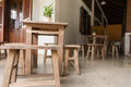 Wood Table And Chair Stock Image - 74323611