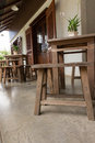 Wood Table And Chair Stock Photography - 74323692