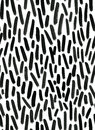 Ink Seamless Pattern. Abstract Print With Brush Strokes. Monochrome Hand Drawn Texture. Artistic Tileable Background Royalty Free Stock Photography - 74341827