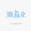 Icons For Micro-circuitry. Stock Photography - 74346342