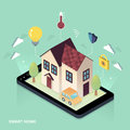 Smart Home Concept Stock Image - 74357881