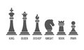 Named Chess Piece Vector Icons Set Stock Photography - 74376732