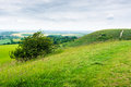 English Landscape Seen From A Hill On Overcast Day Stock Photo - 74392780