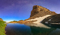 Moonlight Nightscape In The Utah Mountains. Stock Image - 74396091