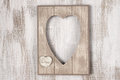 Wooden Heart Shape Frame Royalty Free Stock Image - 74401146