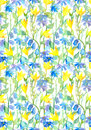 Seamless Floral Pattern - Fantasy Flowers. Watercolor Royalty Free Stock Image - 74404766
